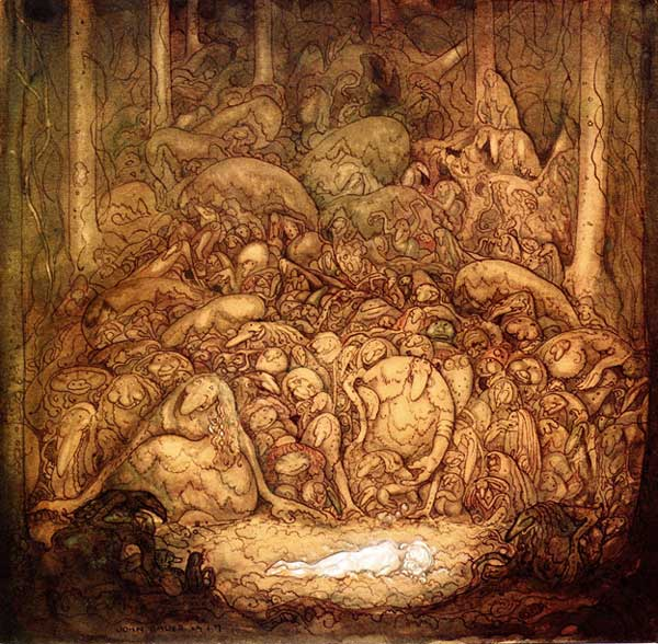 John Bauer characters in woods