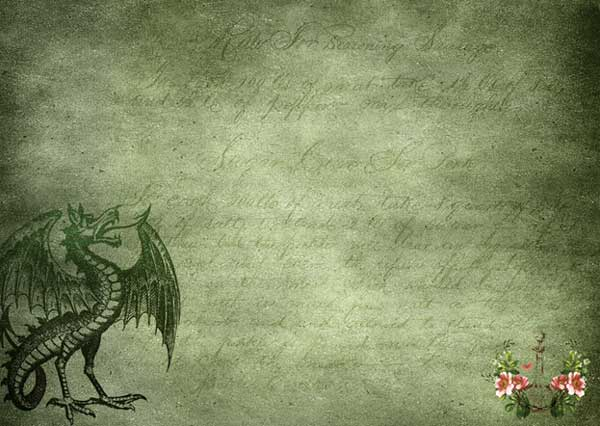 letter with dragon picture